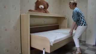 Горизонтальная кровать-трансформер (шкаф-кровать) в Молдове(, 2014-07-07T15:42:21.000Z)