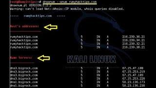 Kali Linux - DNSENUM-DNSMAP Kullanımı