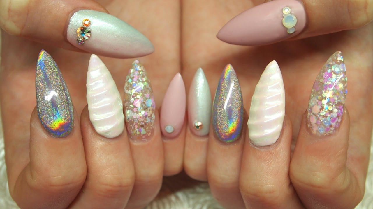 Stiletto Unicorn Nails