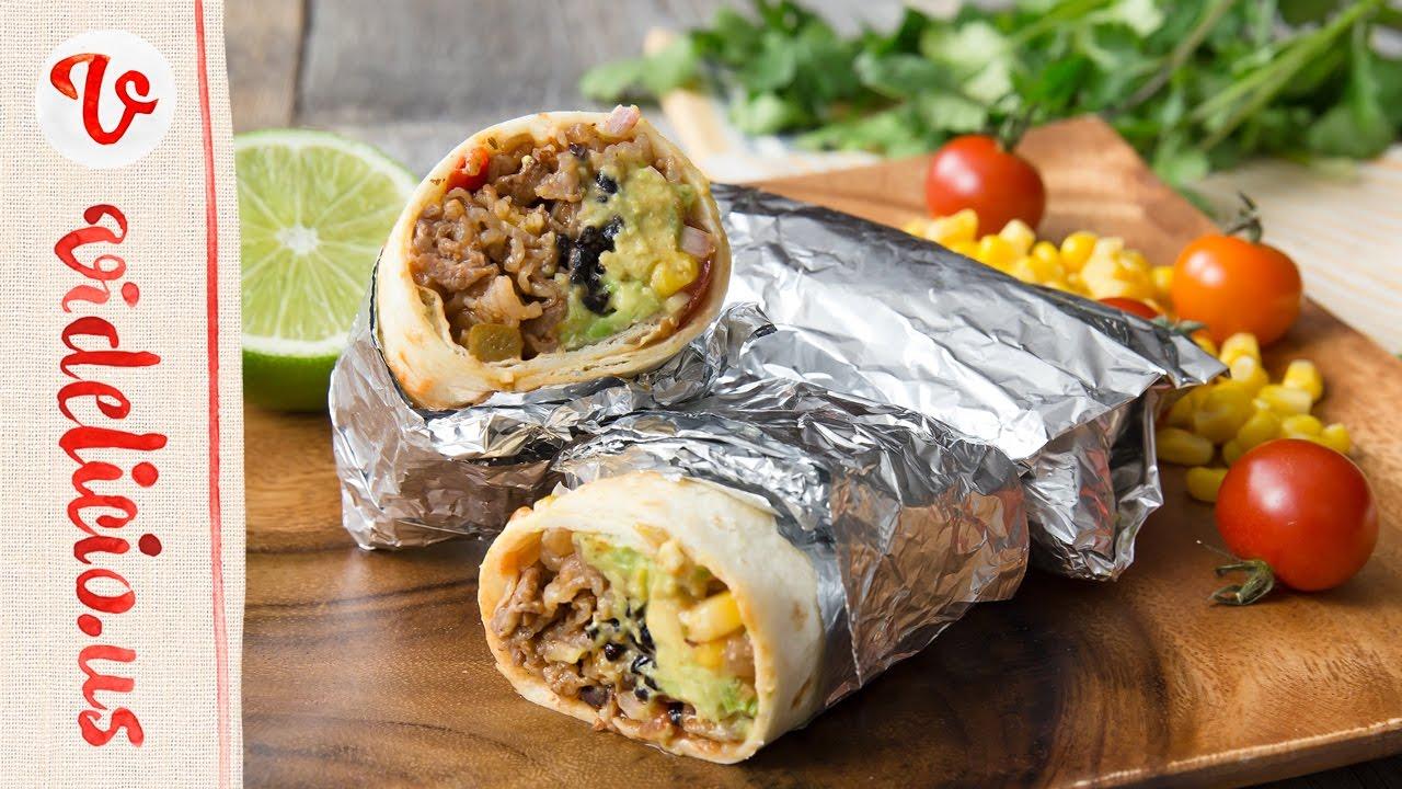 おうちで本格メキシコ料理♪コーンサルサのビーフブリトー|How to make Beef Burritos