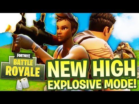 NEW HIGH EXPLOSIVES Mode! - Fortnite Battle Royale