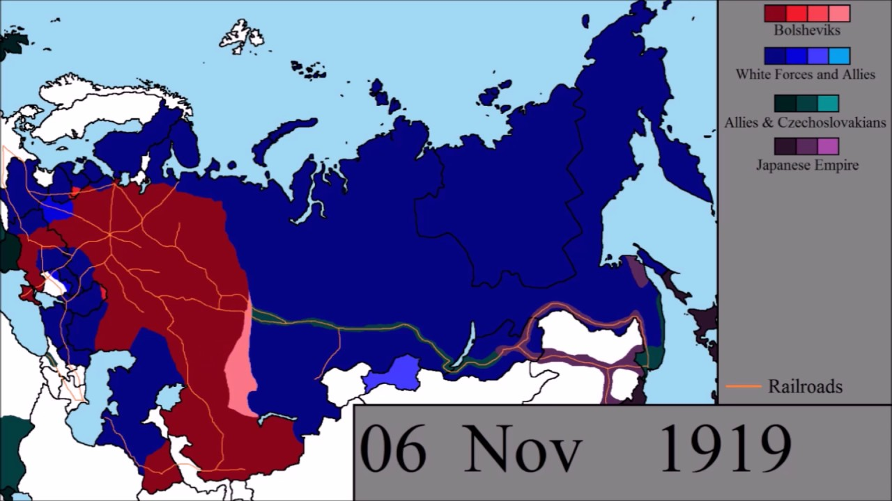 The Russian Civil War: Every Other Day - YouTube