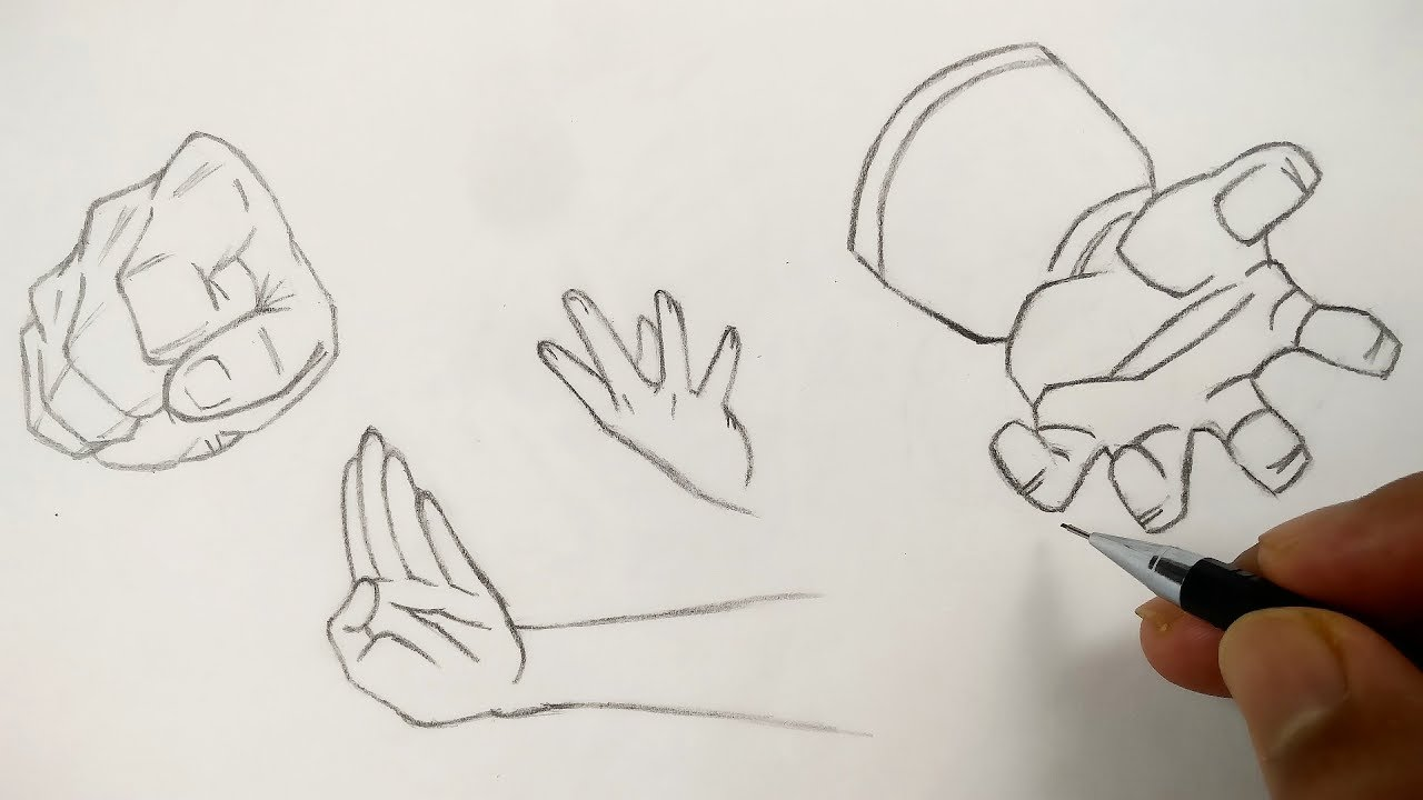 How To Draw Hands Of Anime Characters Step By Step Tutorial