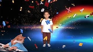 THE ABC WITH MAV | NURSERY SONG | MUSIC FOR KIDS | TODDLER DANCING AND PLAYING