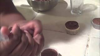 Gluten Free Chocolate Cupcakes Frosted With Whipped Ganache