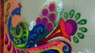 Best Peacock Rangoli Designs