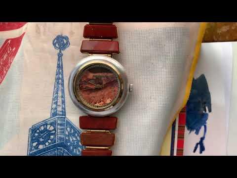 Видеообзор на часы Ракета в алюминиевом корпусе с каменным циферблатом и браслетом