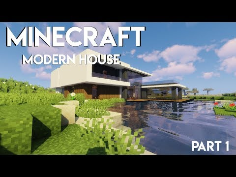Minecraft: Modern house Lets build (part 1)
