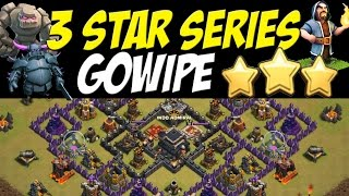 3 Star Series: Gowipe Attack Strategy TH9 Back Door Loons vs TH9 War Base #31 | Clash of Clans oon