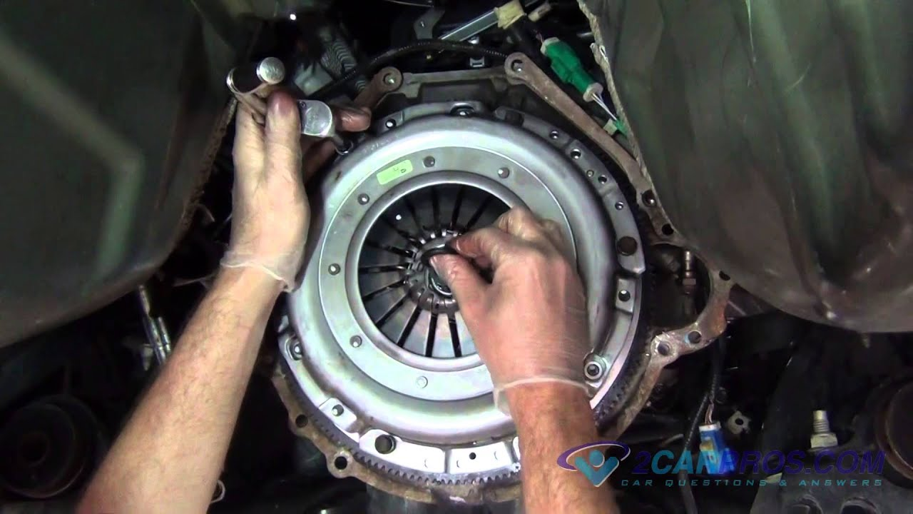 clutch flywheel rear main seal throw out bearing replacement ford mustang 2005 2009 youtube [ 1920 x 1080 Pixel ]