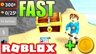 How to Get Sand and Coins/Money FAST in Treasure Hunt Simulator ROBLOX *EASY*