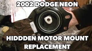 Replacing a Dodge Neon/P T Crusier Center (Hard to get to) Motor Mount. -Part 2