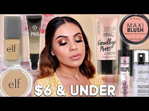 FULL FACE NOTHING OVER $6: AFFORDABLE MAKEUP TUTORIAL | JuicyJas