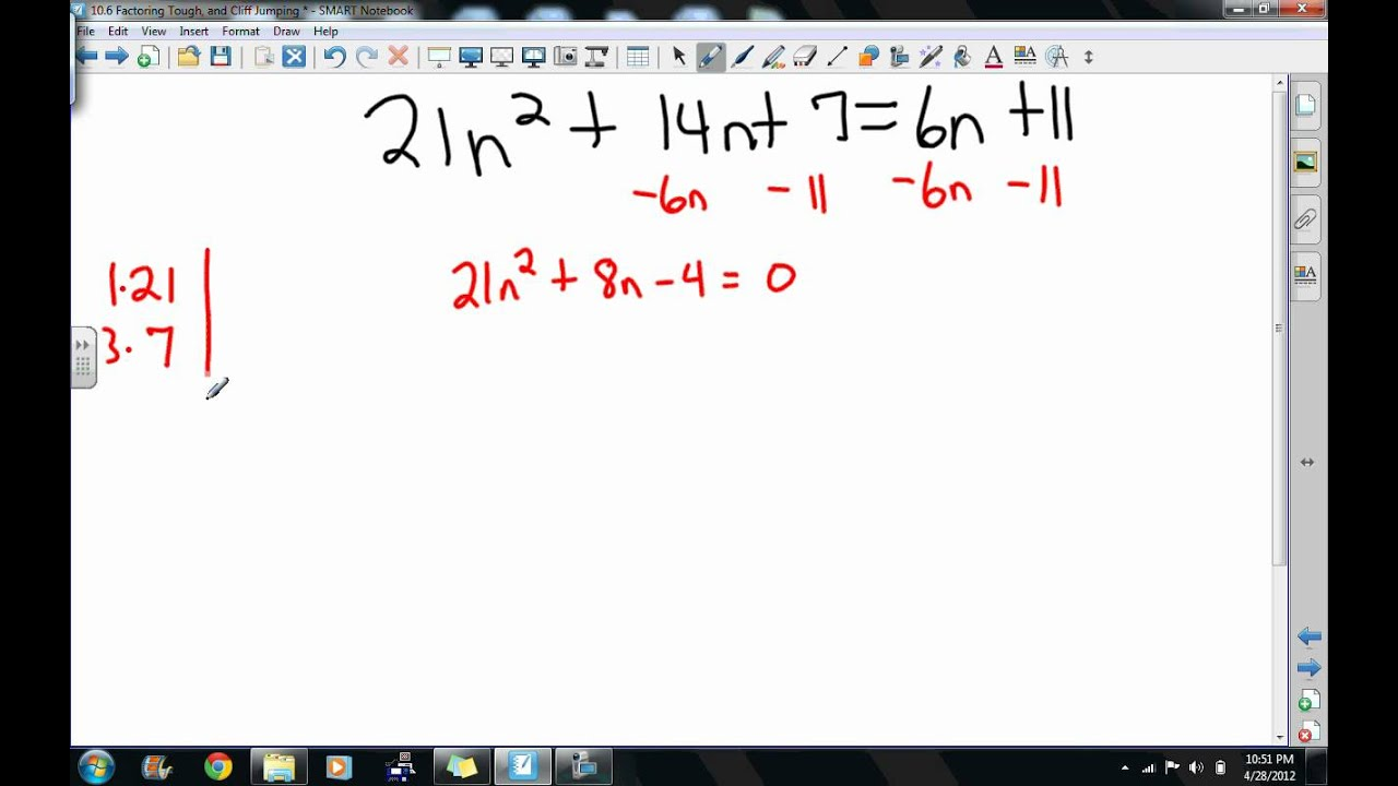 10 6 Hard Factoring Problems - YouTube