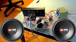 How to make home subwoofer amplifier (LA 4440)
