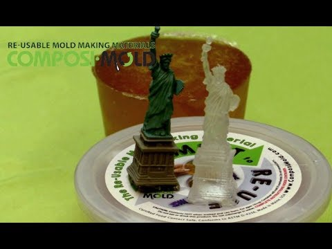 Resin Casting Tutorial. Clear Resin Casting Statue of Liberty Figurine