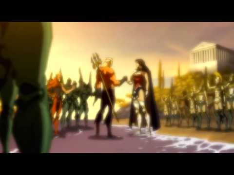 Aquaman and Wonder Woman Truce Flashback - Justice League: The Flashpoint Paradox