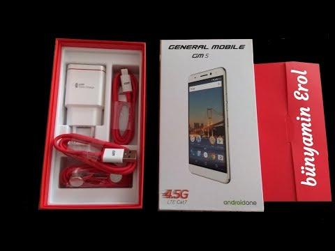 general Mobile  gm5 (16GB) Kutu Açılımı ve İnceleme/Unboxing