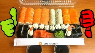 Пробуем роллы из Sushi Shop.(Мой VK: https://vk.com/njasha89 Моя группа в VK: https://vk.com/club5908271 Мой ОК: http://ok.ru/profile/567310845283 Мой Babyblog: ..., 2016-03-16T18:26:08.000Z)