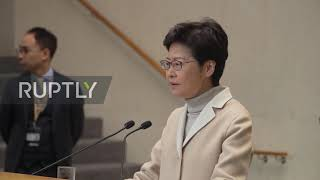 "Hong Kong: ""Law and order"" are priority - Carrie Lam"
