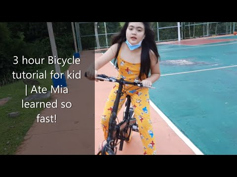 3 hour Bicycle tutorial for kid || Ate Mia learned so fast! || by Chezna Williams SOL thumbnail