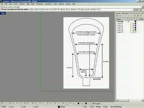 Rhino Tutorial1-Lacrosse Stick