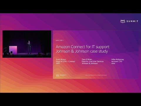 AWS New York Summit 2019: Amazon Connect for IT Support: Johnson & Johnson Case Study (SVC201)