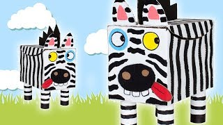 Zebra - Funny DIY craft ideas with boxes | Kids DIY on Box Yourself