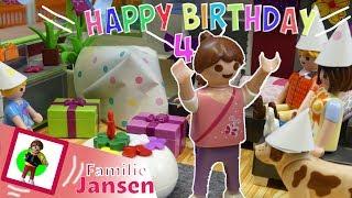 Playmobil Film deutsch - Greta feiert Geburtstag - Geschichte von Familie Jansen für Kinder und Fans