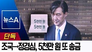 [단독]조국→정경심, 코링크 투자한 날 5천만 원 또 송금  | 뉴스A