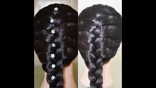 How to make  french braid/simple hairstyle