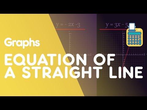 Equation Of A Straight Line y=mx+c | Graphs | Maths | FuseSchool thumbnail