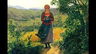 Cuando Hombre Observó Esta Pintura De 1860 Notó Un Intrigante Objeto En Las Manos De La Chica