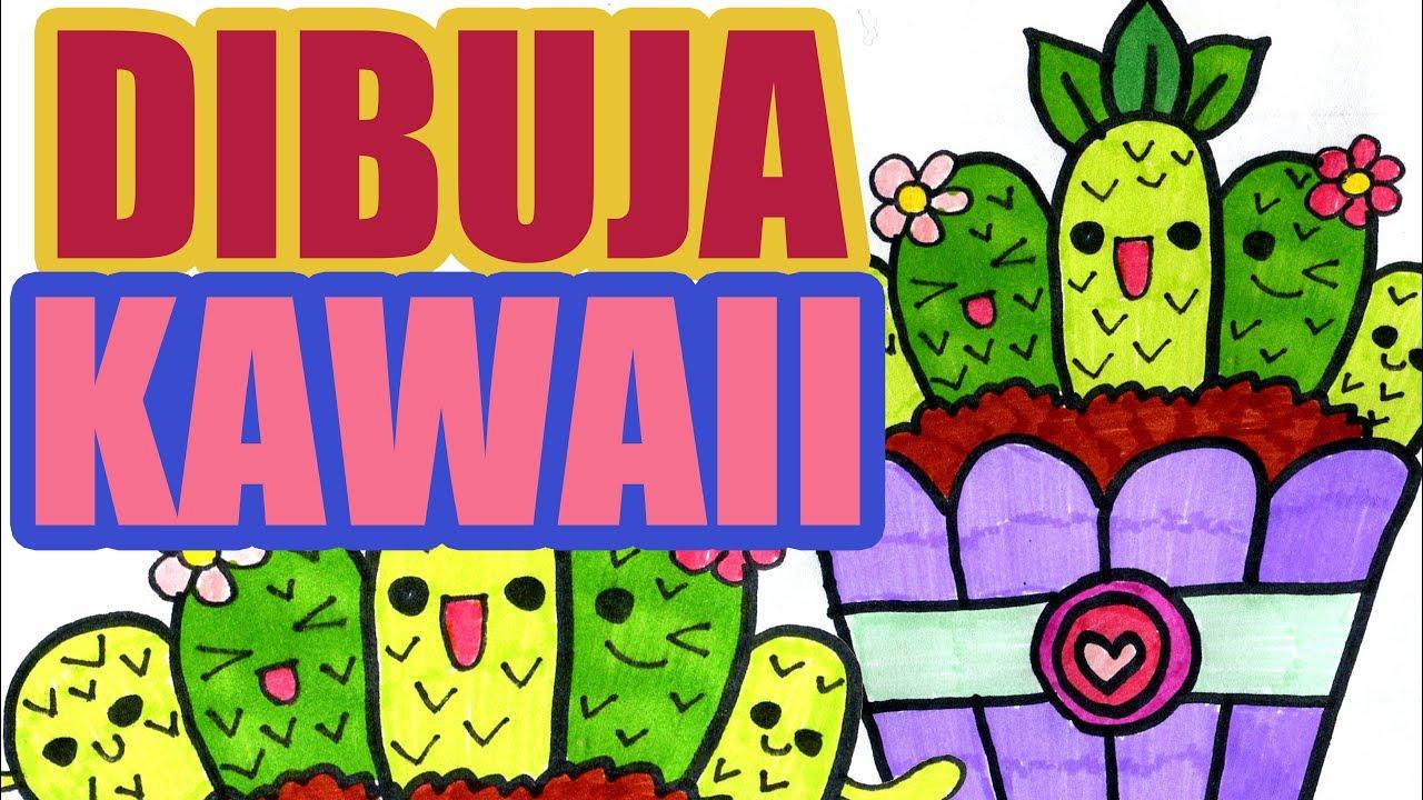 Como Dibujar Plantas Cactus Kawaii En Su Maceta Dibujos Fáciles Para Niños