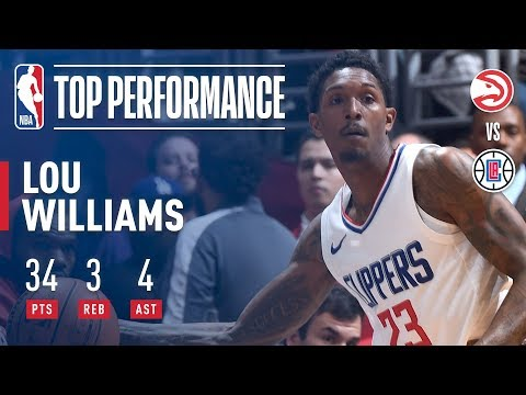 Lou Williams Electric 34 Point Performance vs The Hawks