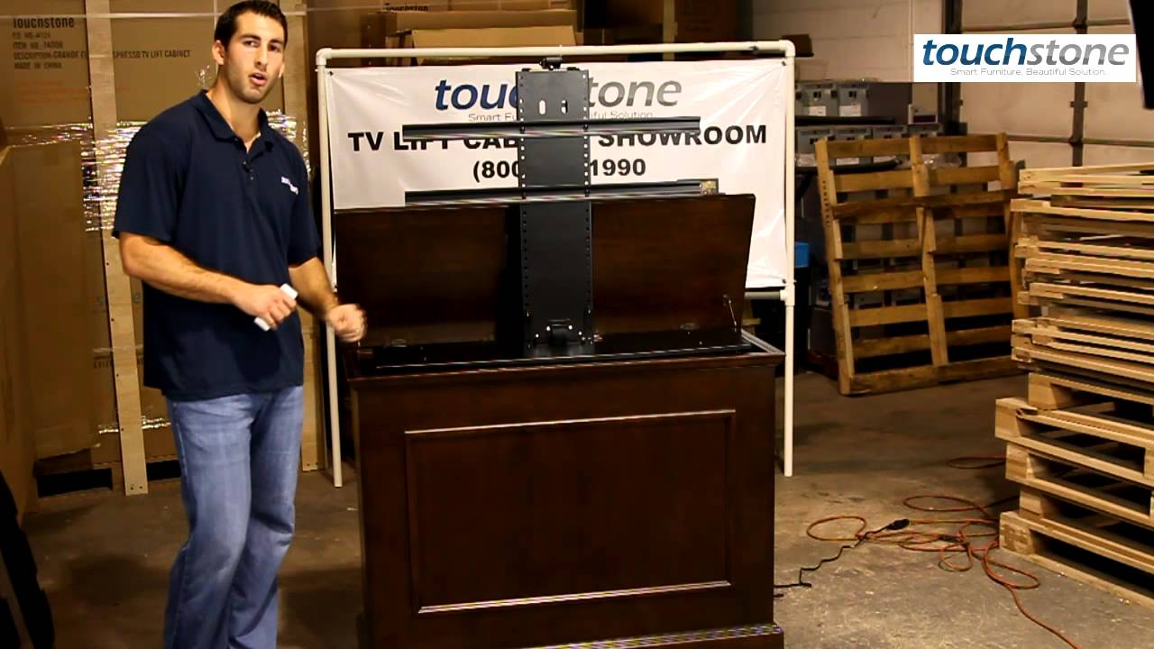 Elevate Wood Tv Lift Cabinet By Touchstone Youtube