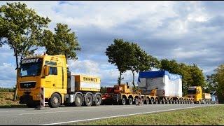 Bohnet Schwertransporte - 200t Pressetisch Engstelle B84 Behringen
