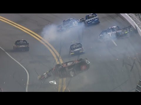 Christopher Bell's wild ride, Nascar Camping World Truck 2016 at Daytona