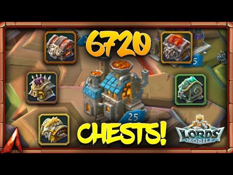 Lords Mobile - 6720 Chests Opening!