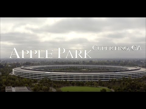 Apple Park [[[4k]]] drone video||Mavic 2 Pro