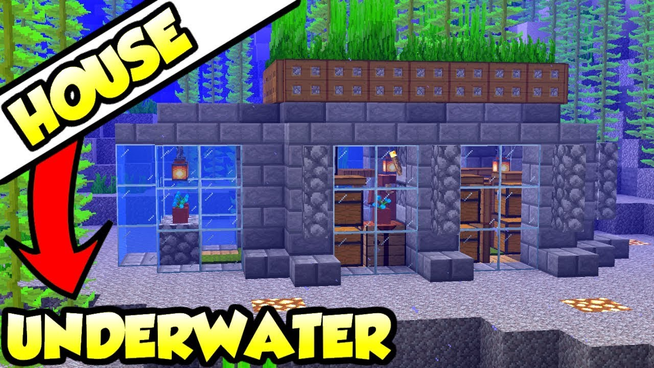 Minecraft Ultimate Underwater Survival House Tutorial  How To Build