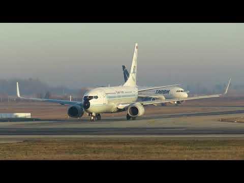 Tarom (Happy 60 years Livery) B737-78J YR-BGG takeoff Bucharest Airports