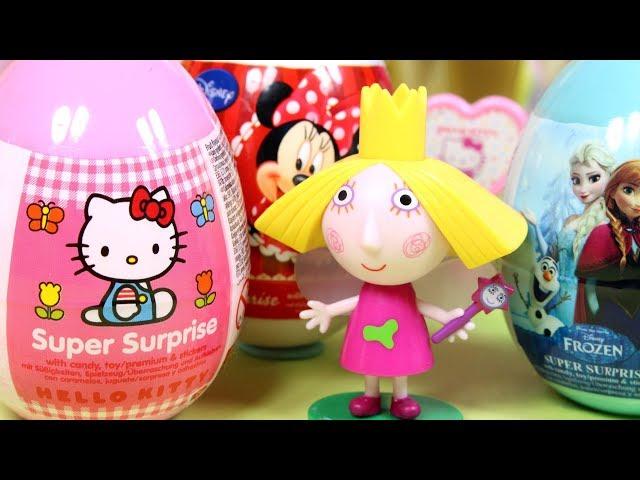 Małe królestwo Bena i Holly •  Myszka Minnie & Frozen & Hello Kitty • Jajka Niespodzianki