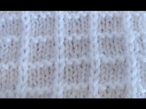 Вафельный узор спицами схема и описание