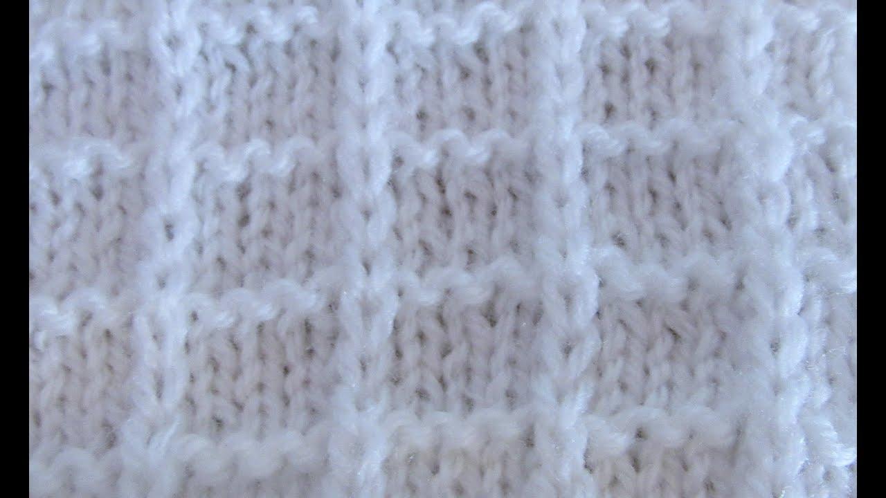 Вафельный узор спицами схема