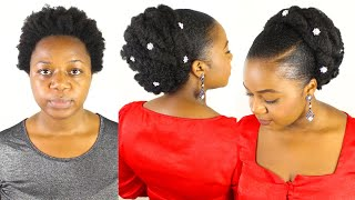 FAUX UPDO ON NATURAL HAIR