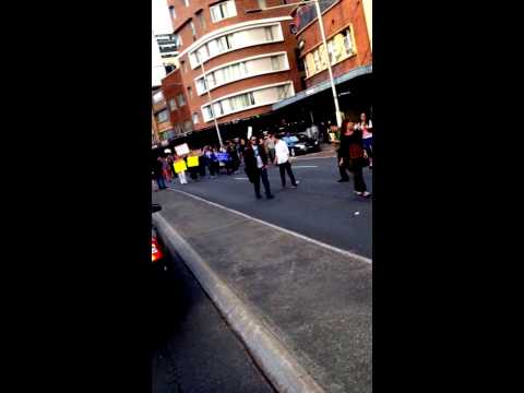 Sydney protest against Abbott Government's budget cut