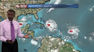 Hurricane Irma, Jose, and Katia on 9/7/17