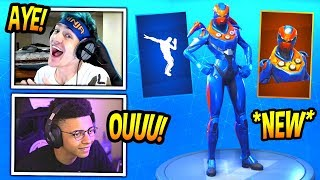"NINJA & MYTH REACT TO *NEW* ""CRITERION"" SKIN! + INFINITE DAB EMOTE! Fortnite FUNNY Moments"