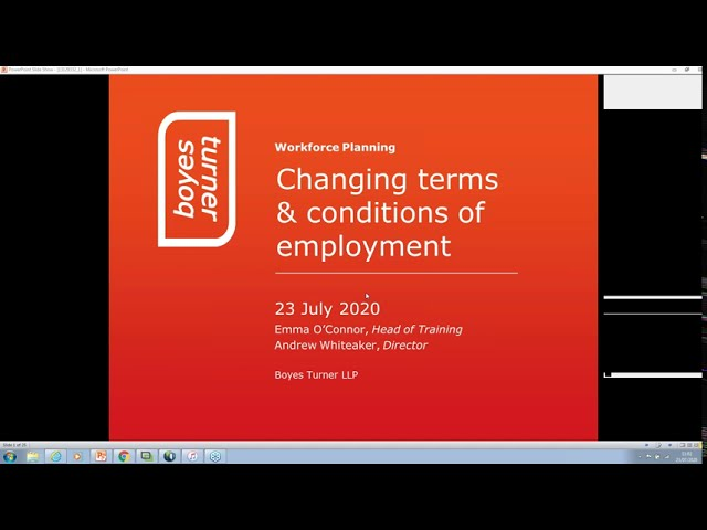 Changing Employment Contract Terms